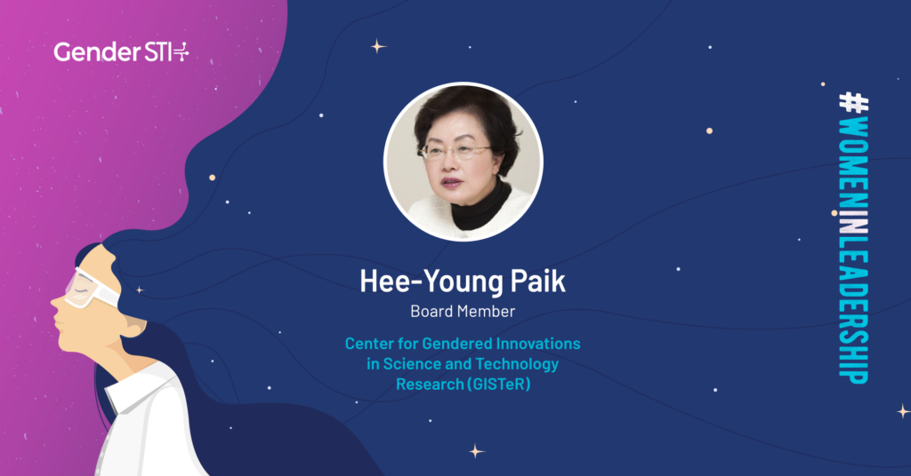 Hee-Young Paik, board member of GISTeR in South Korea, is a nominee for Gender STI's #WomenInLeadership campaign.