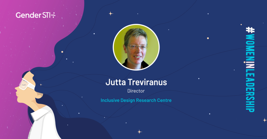 Jutta Treviranus, director and founder of the Inclusive Design Research Centre (IDRC), is one of Gender STI's #WomenInLeadership nominees.