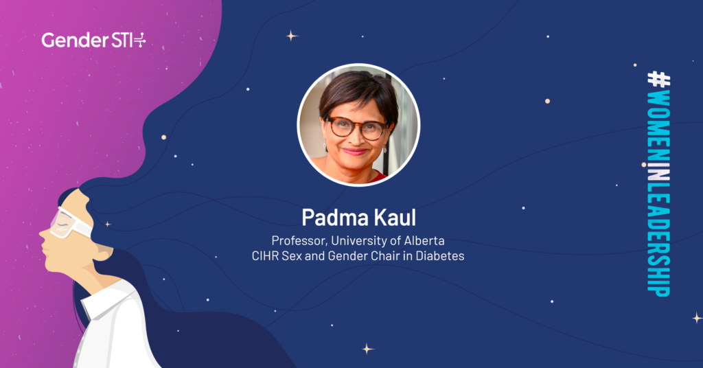 Padma Kaul, a professor at the University of Alberta, is one of Gender STI's #WomenInLeadership nominees.